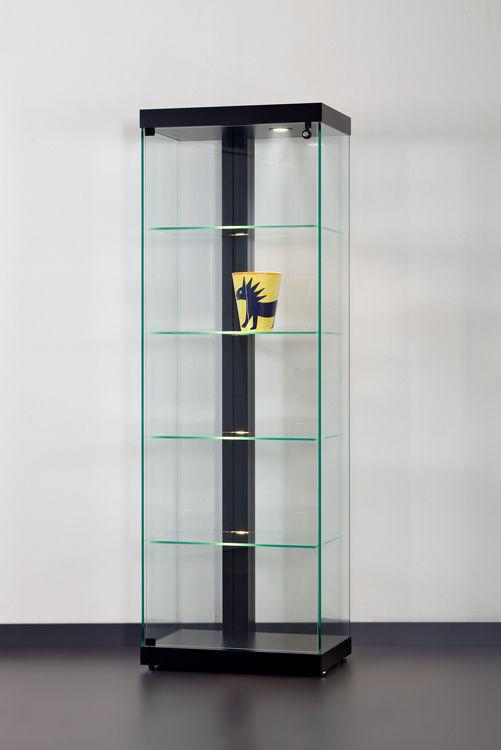 Moderne Vitrine / Glas / Aluminium / beleuchtet - LINEA 60 - SDB ...