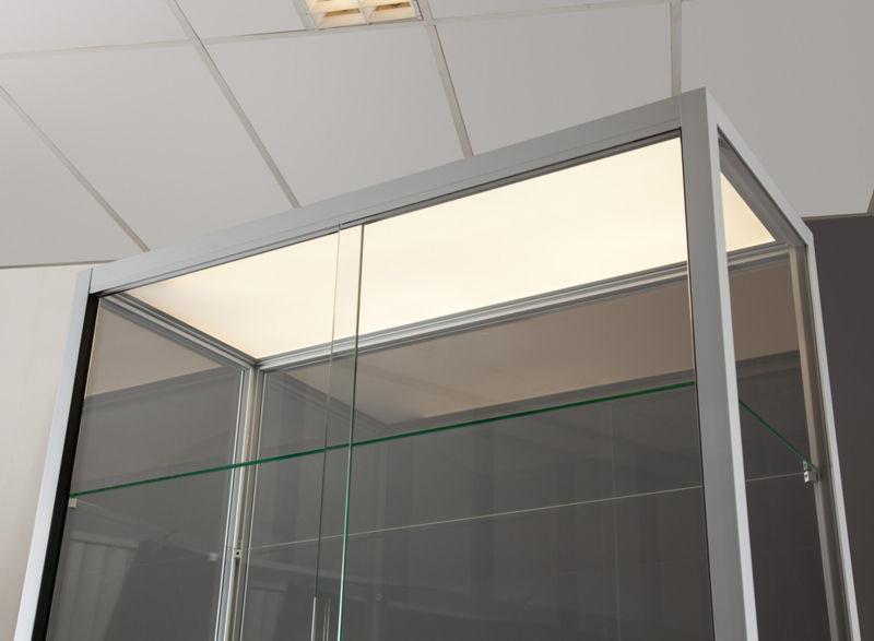 Moderne Vitrine / Glas / Holz / anodisiertes Aluminium - 311 1000 ...