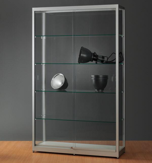 Moderne Vitrine / Glas / Holz / anodisiertes Aluminium - 311 1200 ...