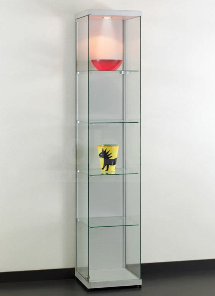 Moderne Vitrine / Glas / anodisiertes Aluminium / beleuchtet - DITO ...