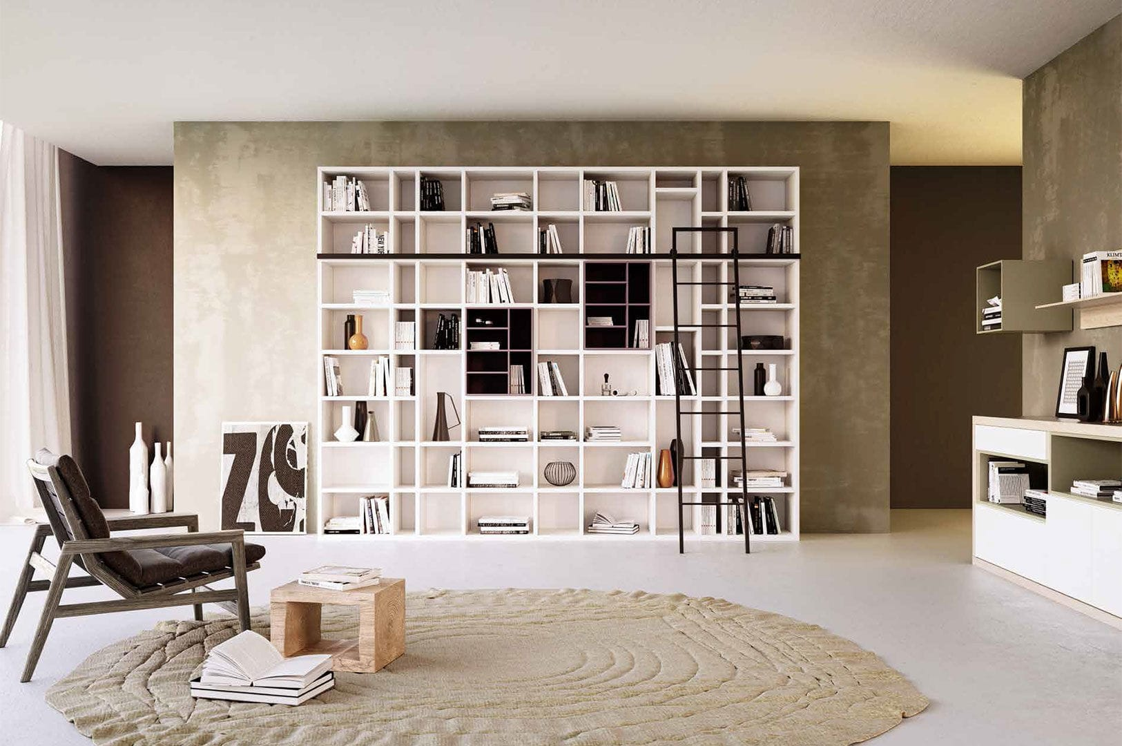 Moderne Bibliothek / lackiertes Holz - G406 - GIESSEGI