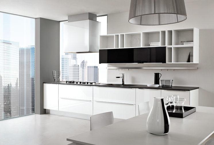 Moderne Küche / Laminat / Hochglanz / lackiert - LIFE01 ...
