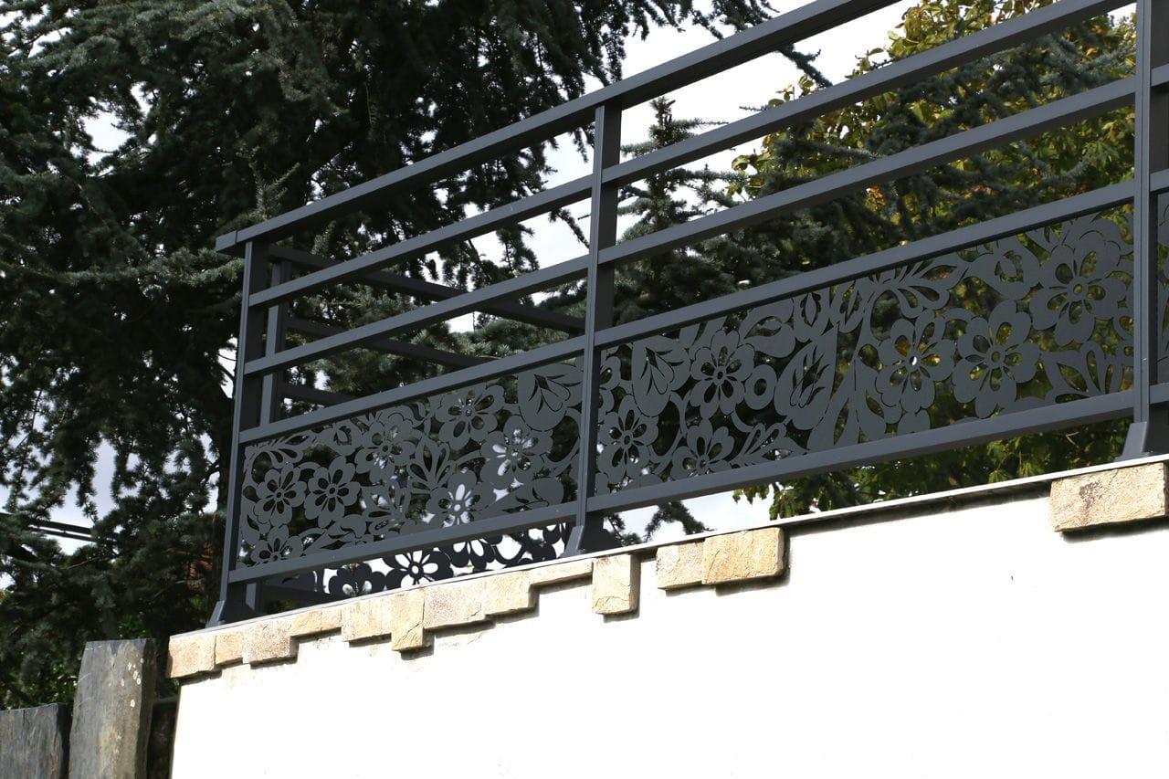 Aluminium-Geländer / mit Stangen / Außenbereich / für ...