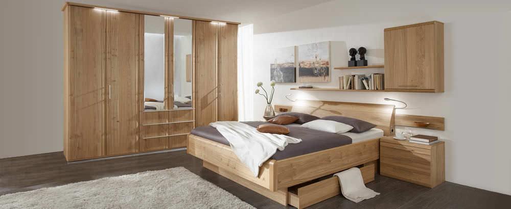 Doppelbett   CORETTA   Disselkamp   modern / Schubladen / mit Ablage