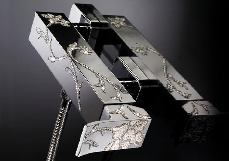 Einhebelmischer für Duschen / Metall / mit Swarovski ...