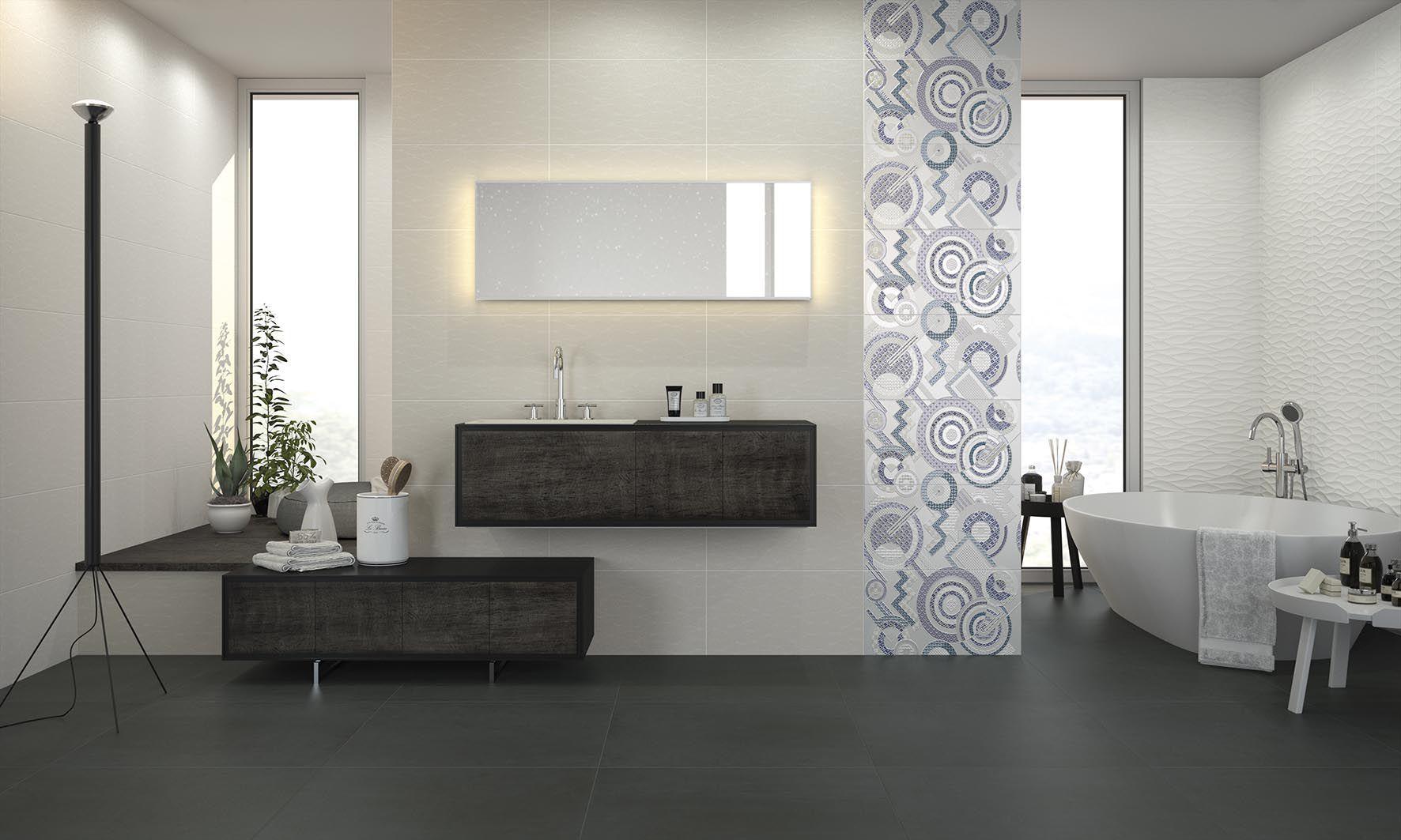 Badezimmer-Fliesen / für Böden / Feinsteinzeug / mit ...