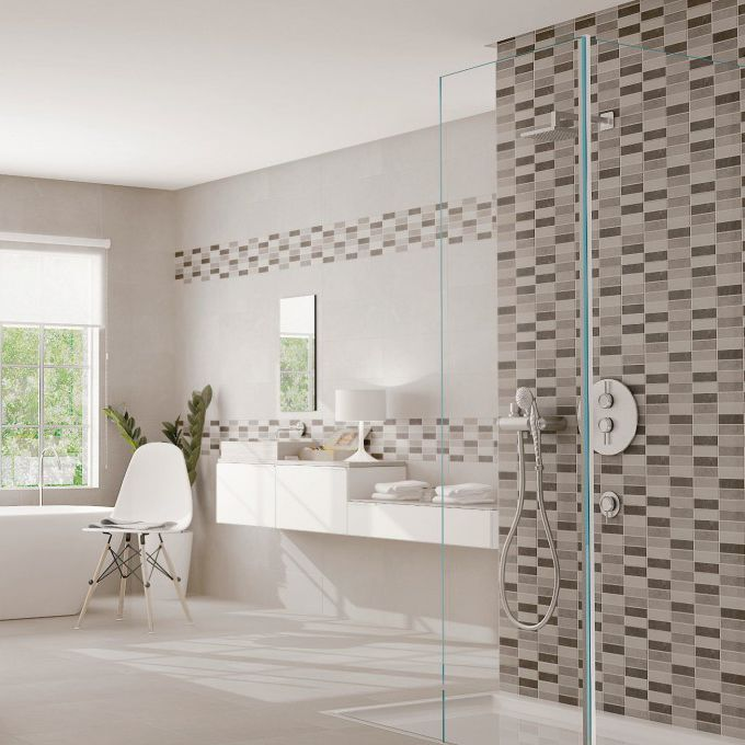 Fliesen für Badezimmer / Wand / Keramik / mit geometrischem ...