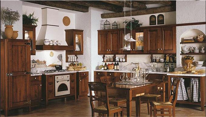 Klassische Küche / Massivholz / Holz / mit Griffen ...