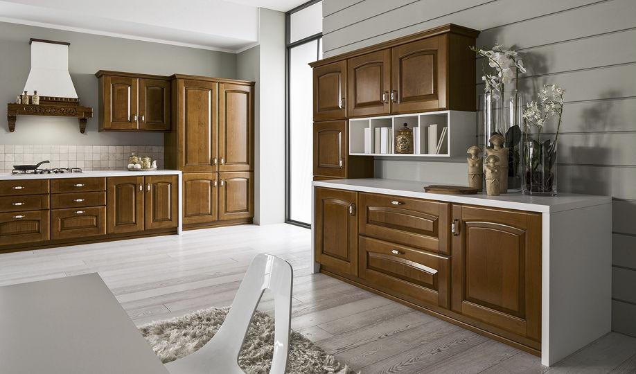 Klassische Küche / Massivholz / Holz / mit Griffen - MAGDA ...