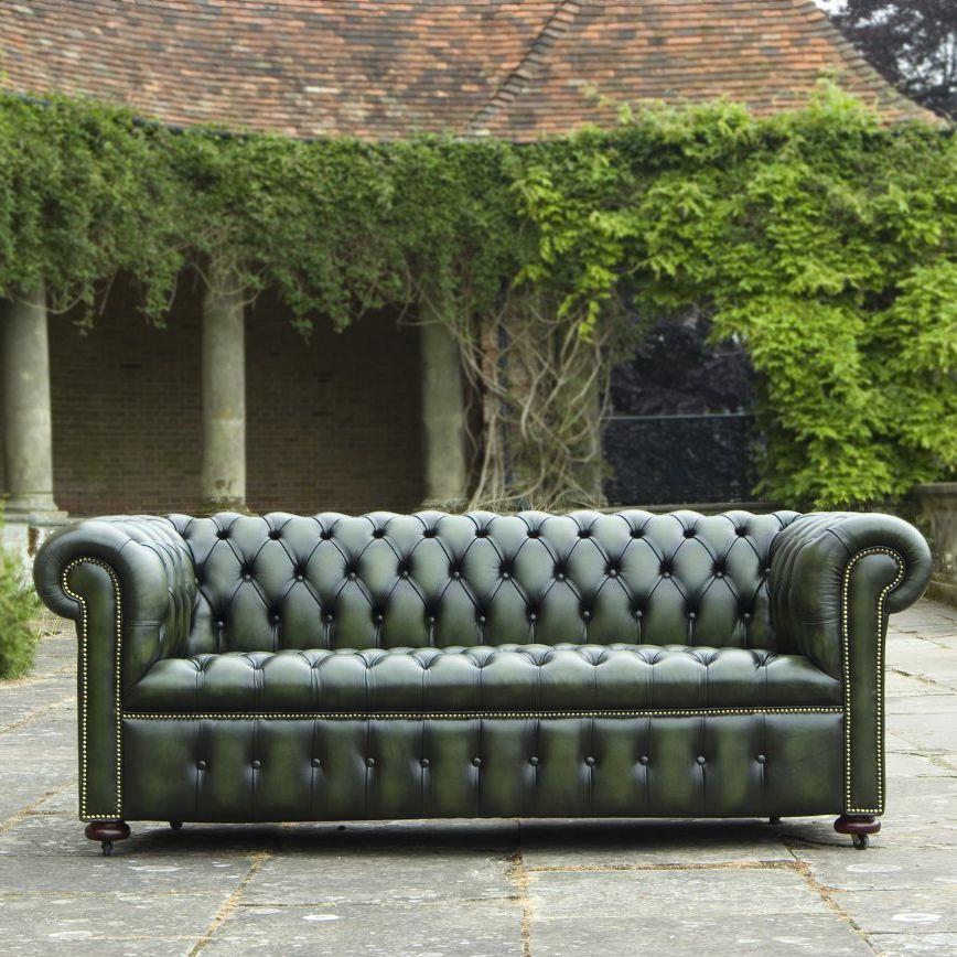 Chesterfield-Sofa / Stoff / Leder / für öffentliche ...