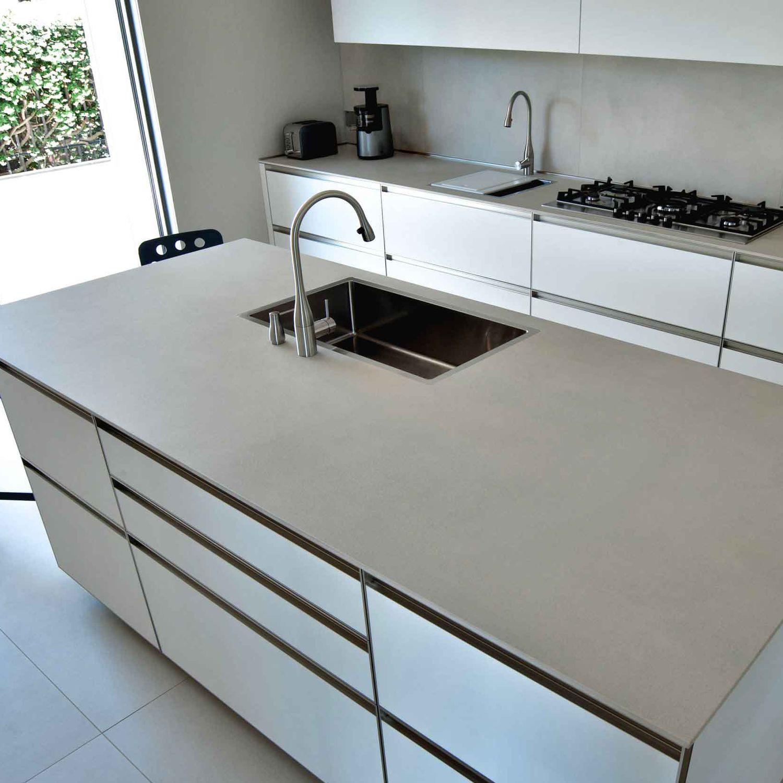Keramik-Arbeitsplatte - CALCE AVORIO - LAMINAM - für Küchen