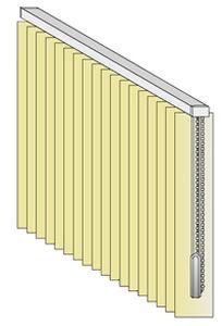 feinste Auswahl klare Textur autorisierte Website Vertikal-Rollo / Stoff / mit Kettenauslösung / elektrisch ...