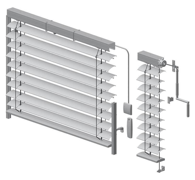 uk billig verkaufen Professionel Preis Jalousie-Rollo / Aluminium / Außenbereich - AR 80 - HELLA