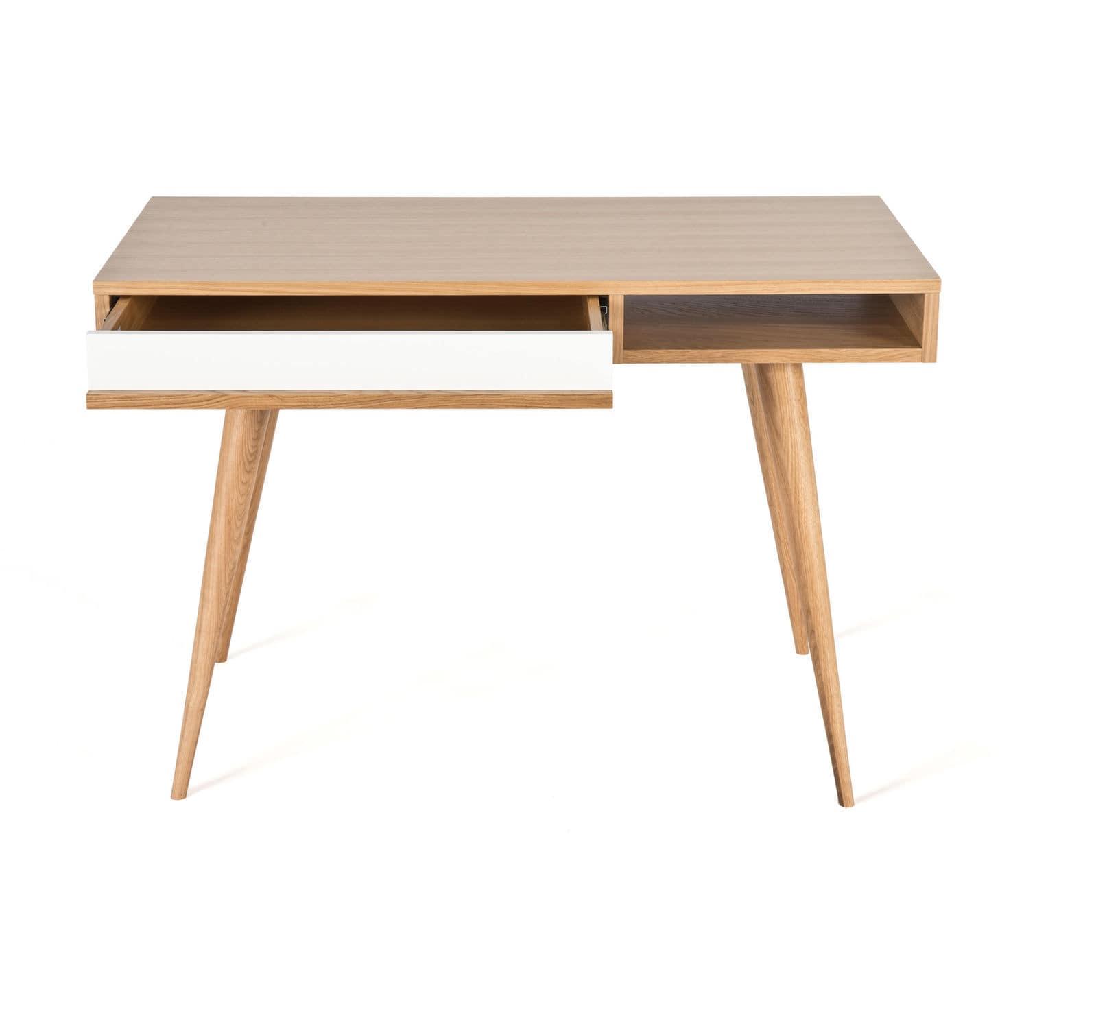 Schreibtisch Beine Holz.Holz Schreibtisch Modern Integrierter Stauraum Celine