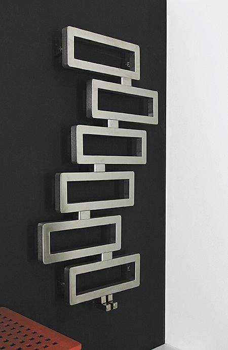 Heißwasser-Badheizkörper / Edelstahl / modern / für ...