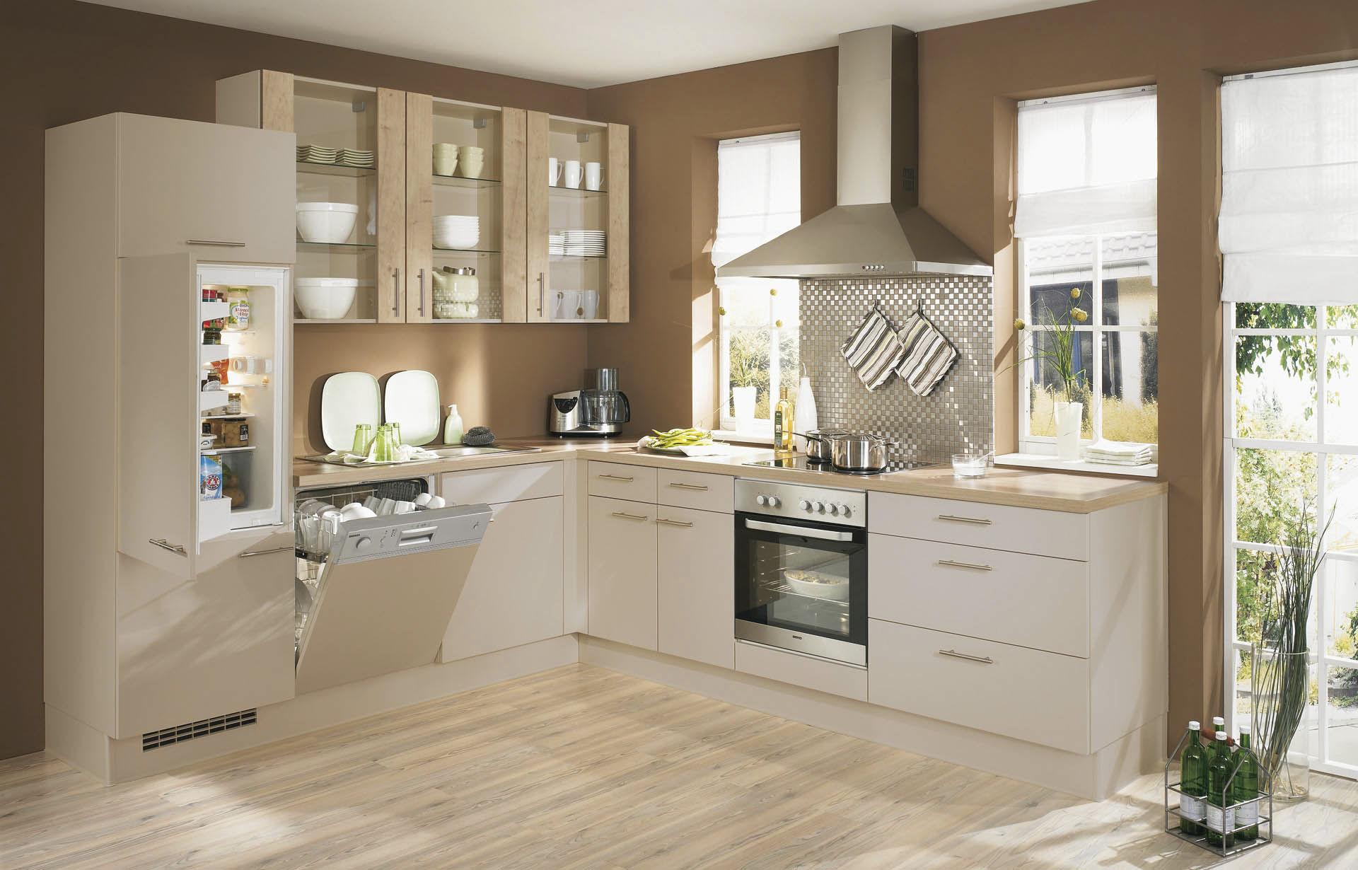 Moderne Küche / Holz / lackiert / matt - PIA 672 - nobilia
