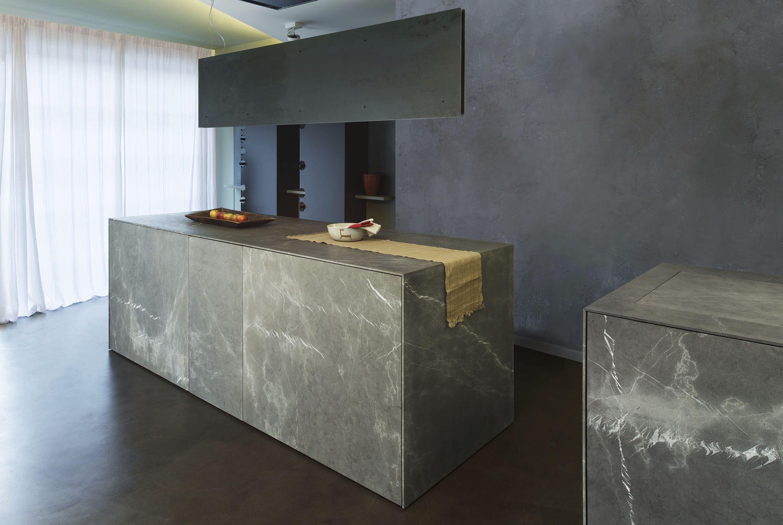 Moderne Küche / Stein / Kochinsel / ohne Griff - 20141002 ...