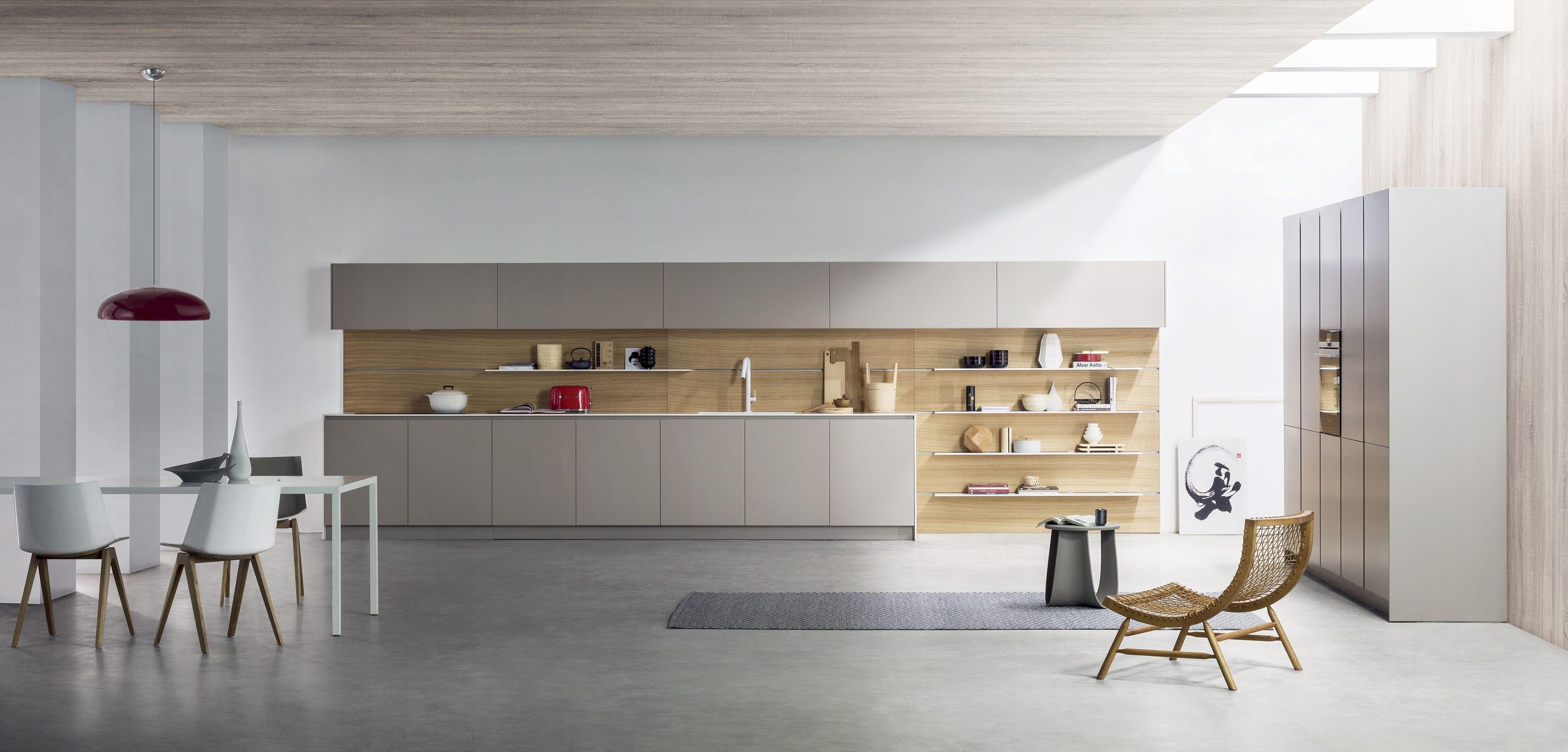 Moderne Küche / Edelstahl / Laminat / Kochinsel - K6 - TM Italia