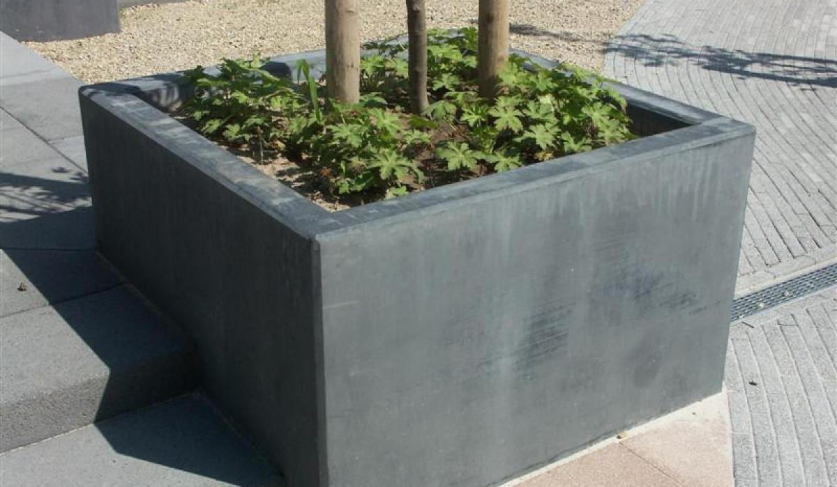 Pflanzkübel Aus Beton.Beton Pflanzkübel Quadratisch Modern Für öffentliche