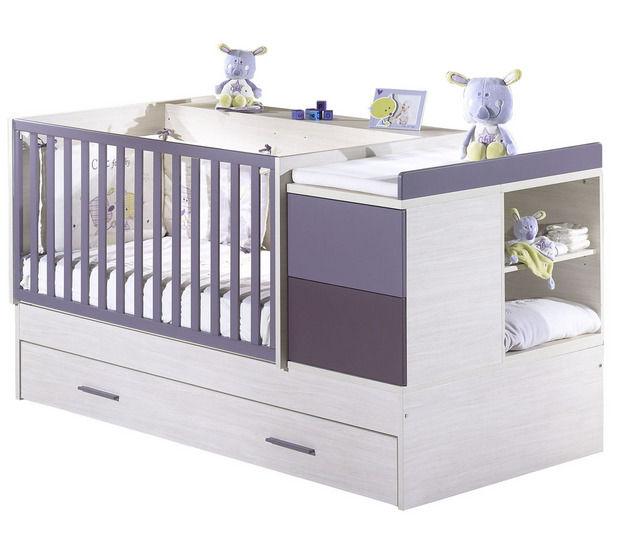 Sehr Mitwachsendes Babybett / modern / für Mädchen / Holz - FY106 - Sauthon SQ49