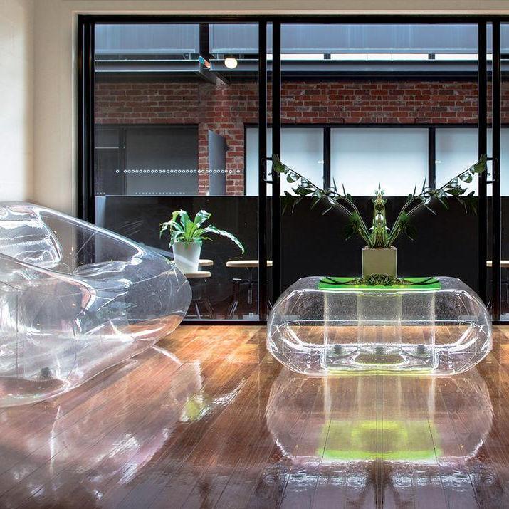 Aufblasbarer Tisch / modern / Polyurethan / Thermoplast - CRISTAL - FUGU