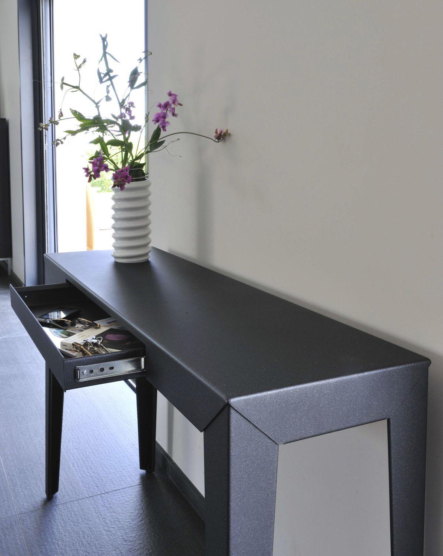 Moderner Konsolentisch / Aluminium / verzinkter Stahl ...