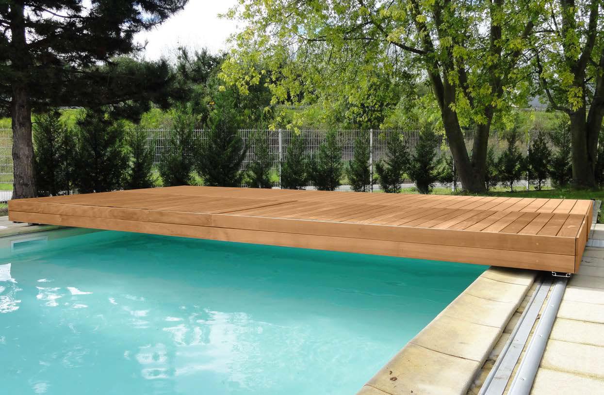 Schwimmbeckenabdeckung Mobile Terrasse Mit