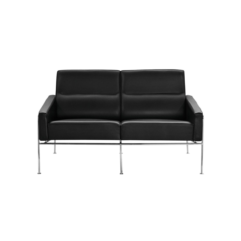 Sofa Skandinavisches Design Stoff Leder Stahl