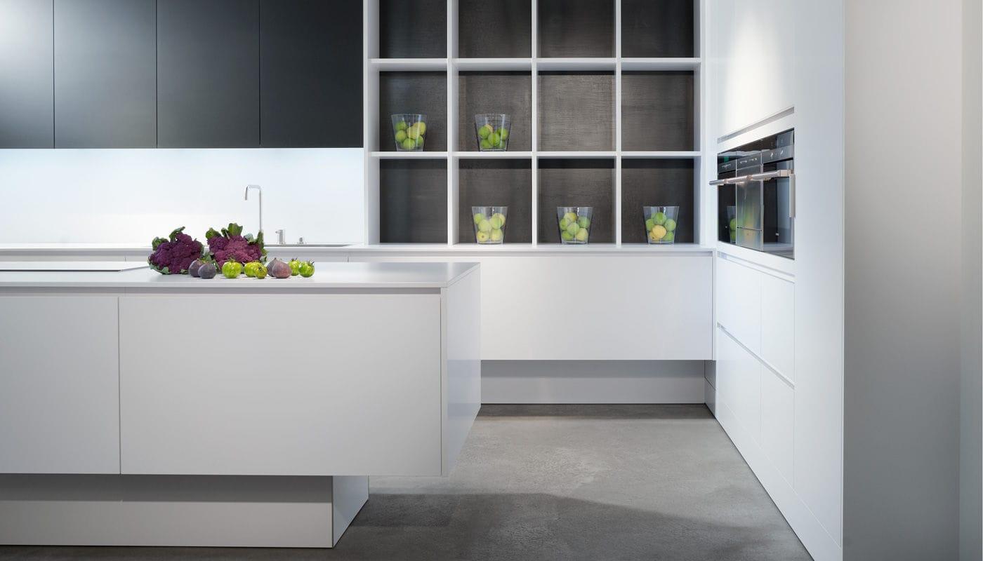 Moderne Küche / Laminat / Kochinsel / ohne Griff - PURE ...