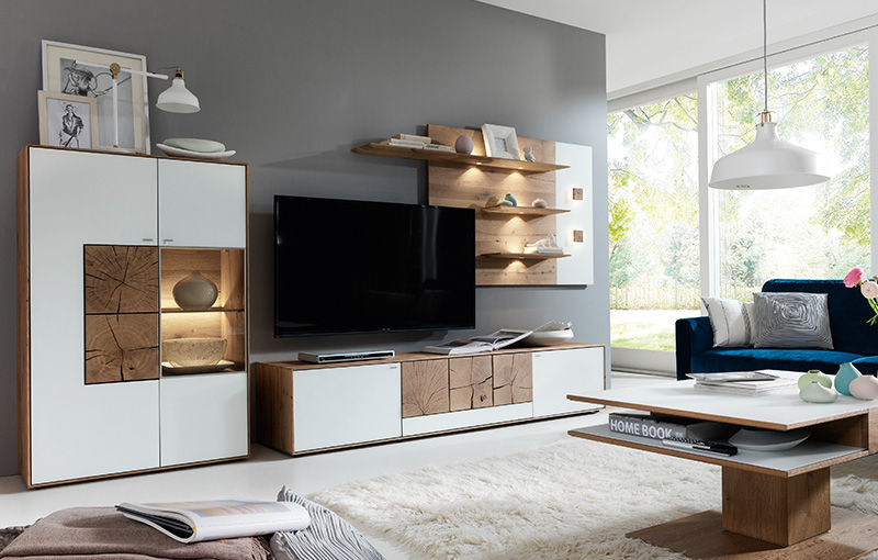 Moderne Wohnwand Aus Eiche Caya Hartmann Mobelwerke Gmbh