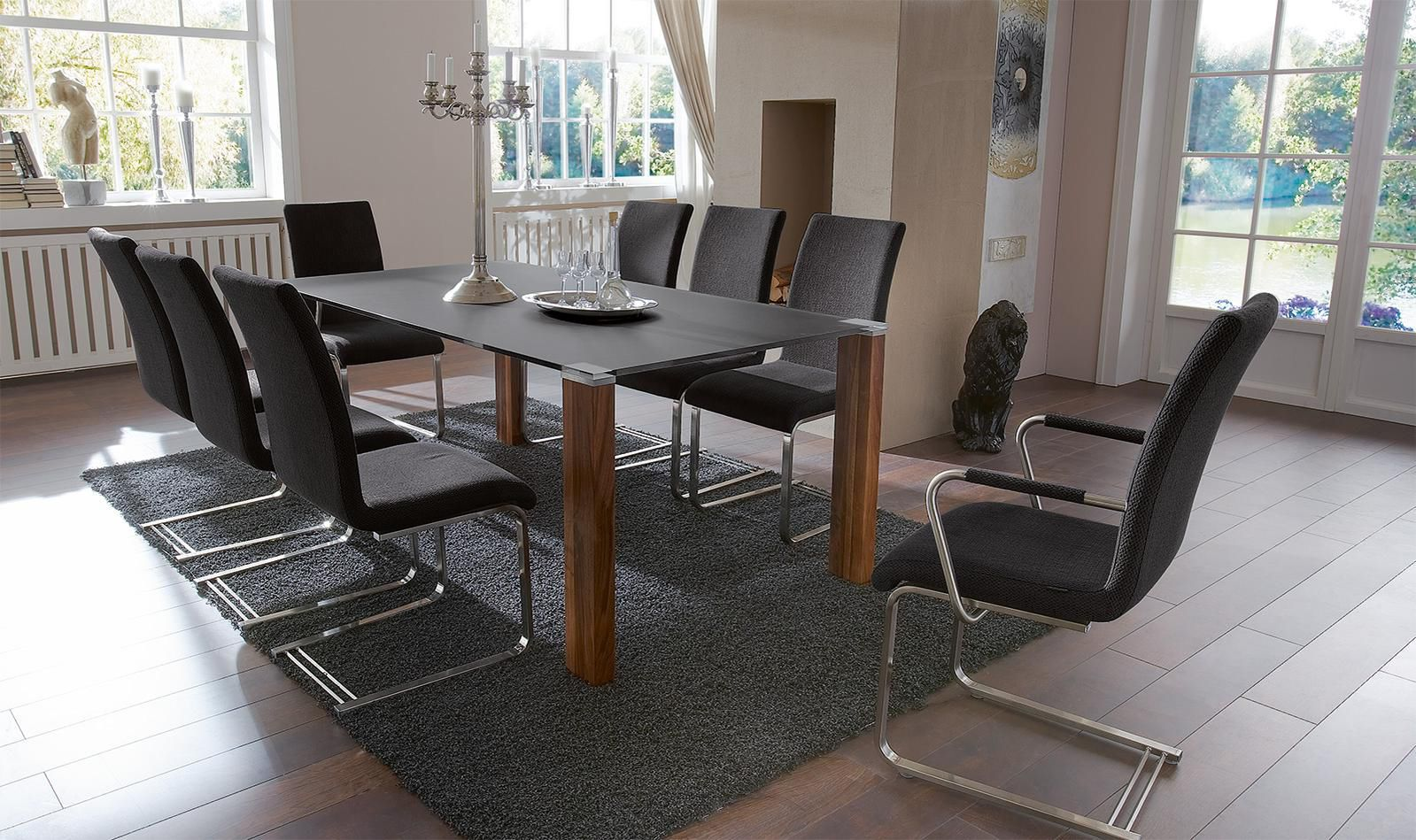 Moderner Stuhl Polster Mit Uberhang Stoff Daniella