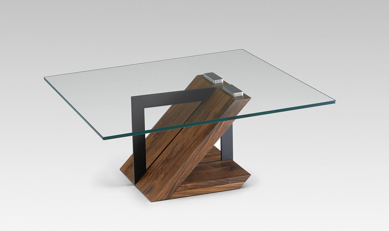 Moderner Couchtisch / Holz / Glas / rechteckig - 4104 ...