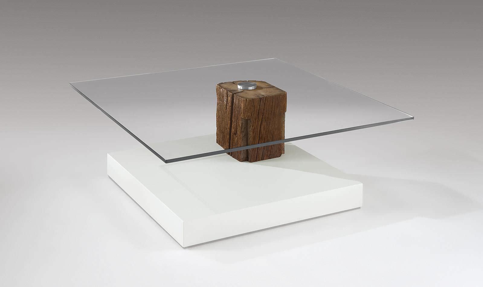 Moderner Couchtisch / Holz / Glas / quadratisch - 4400 ...