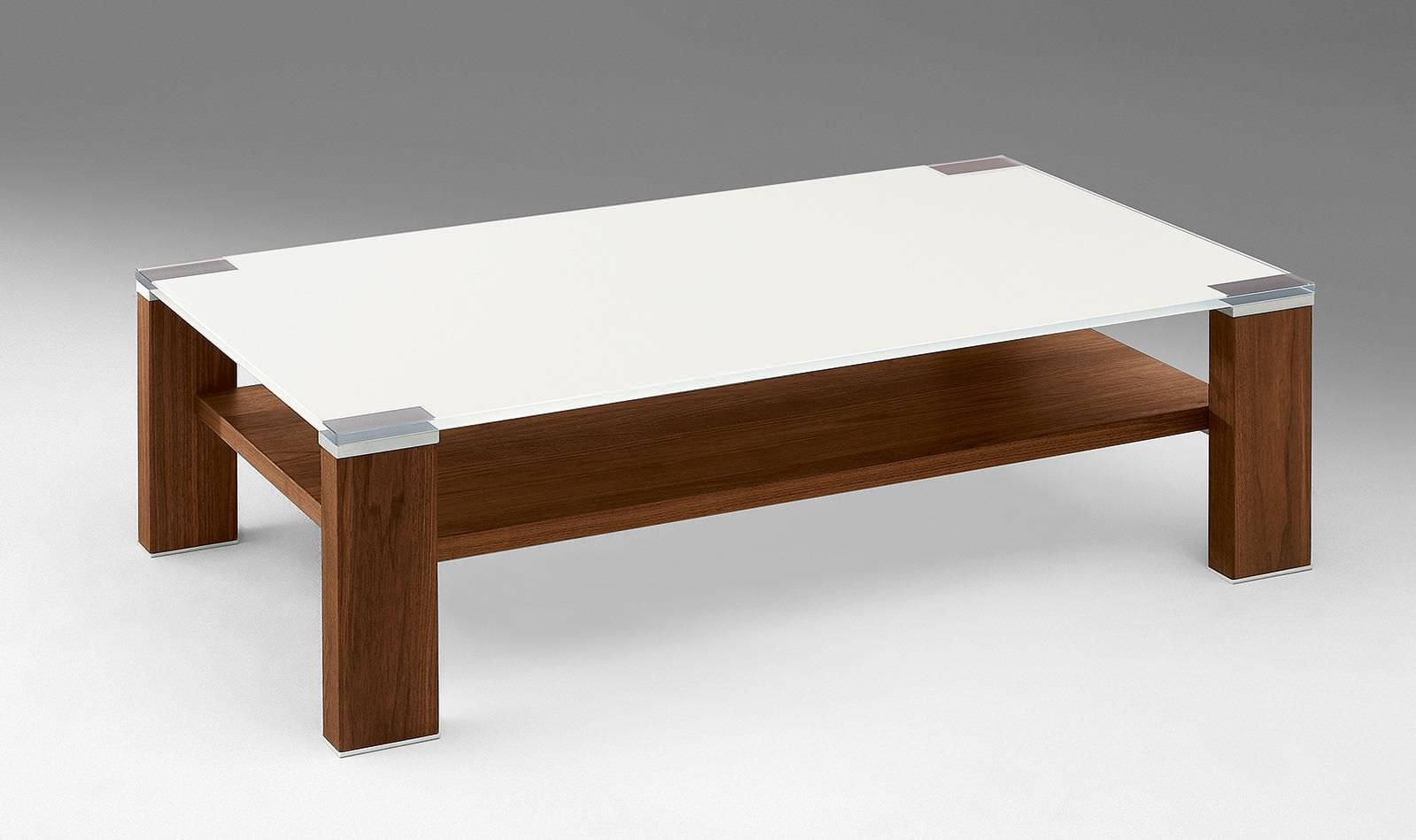 Moderner Couchtisch / Holz / Glas / rechteckig - CT484 - Alfons ...