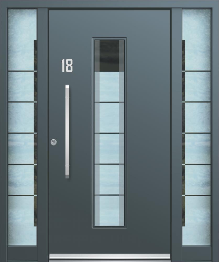 Beliebt Eingangstür / einflügelig / Glas / Aluminium - AGE 1113 - INOTHERM ND27