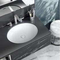 Eingebautes Waschbecken / oval / Keramik / modern