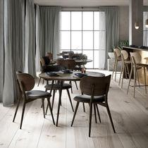 Moderner Esszimmerstuhl / Polster / FSC-zertifiziert / Leder