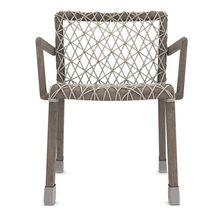 Moderner Stuhl / aus Teakholz / Kordel / mit Fußgestell aus Teakholz