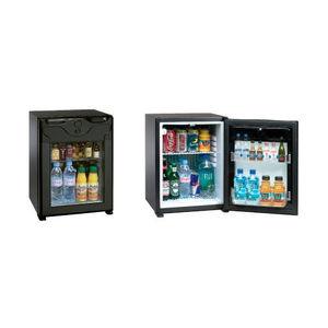 Glas--Minibar / mit französischen Türen / mit integrierter Beleuchtung / für Hotels