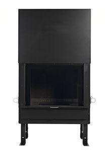 Geschlossene Feuerstelle / Holz / 1 Sichtseite / Metall