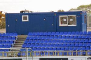 Containeranlage für öffentliche Gebäude / für Stadion / für Lagerung / verzinkter Stahl