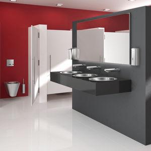 Objektmöbel-Seifenspender / wandmontiert / Edelstahl / polierter Edelstahl