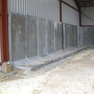 Stahlbetonmauer