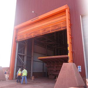 faltbare Industrietore / PVC / automatisch / mit Sicherheitsvorrichtung