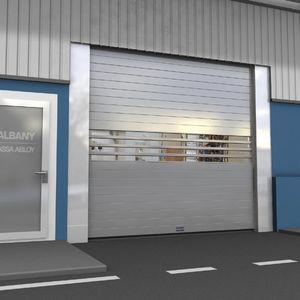 Roll-Industrietore / Aluminium / verzinkter Stahl / Polycarbonat