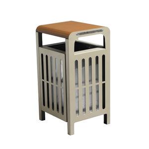Park-Abfallbehälter / Stahl / modern