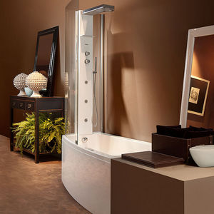 rechteckige Badewannen-Duschkombination