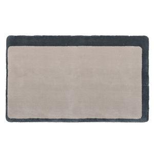 moderner Teppich / uni / Wolle / Viskose