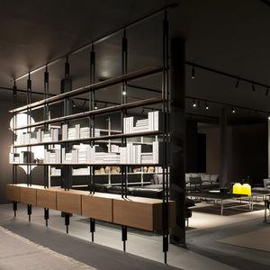 wandmontierte Bibliothek / Decke/Boden / modern / Aluminium