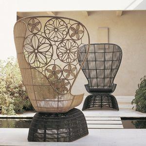 Sessel / originelles Design / Polyethylen / aus Manilahanf / mit hoher Rückenlehne
